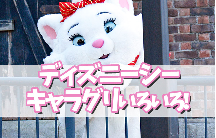 東京ディズニーシーのキャラクターグリーティングいろいろ!